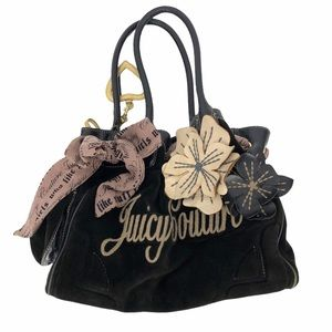 Juicy couture y2k velour hobo bag w/ flowers